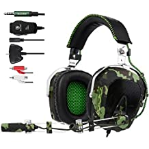 Sades SA 926 Stereo Gaming Headset over - Auriculares in-ear con micrófono para PS4/PS3/Xbox One/Xbox 360/PC/Mac/Smart Phone/iPhone (Ejército Verde)