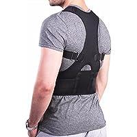 YiZYiF Soporte de Espalda Ajustable Unisex Corregir la Postura Corrector de Espalda Aliviar Dolor Lumbar para M-XXL