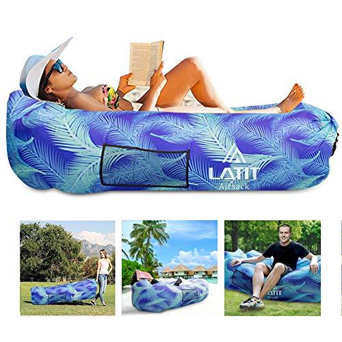 *LATIT Aufblasbares Sofa, Tragbares Aufblasbarer Lounger Wasserdichtes Luft Sofa Couch,Luftcoach Luftsofa Air Lounger mit Tragtasche Aufblasbare Couch für Camping Wander, Schwimmbad*