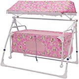 STEPUPP Newborn Baby LittleNest Bassinet Cradle With Mosquito Net-Canopy And Wheels Recommened For Cradle For Baby With Net And Swing Kids Cradle Baby Cradle Mosquito Net Cradle Baby Cradle Jhula Swing (pink 024 )