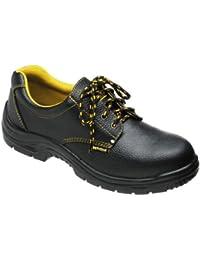 Wolfpack - Zapatos seguridad piel, color negro Nº 45