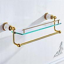 Modylee Monte d'Oro Ottone accessori da bagno doccia ripiano cosmetico Mensola Portasciugamani 87.315 , 3
