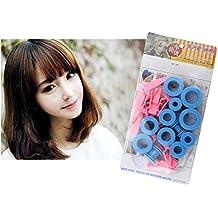 XYXY Plástico DIY Hair Styling Roller rizadores Clips Hair Curler Hair Tools 3 paquetes. rosa y azul