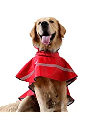 Kismaple Mascota Perro Impermeables Chubasqueros para pequeña Medianas Grandes Perros,Impermeable Chanqueta con Capucha -