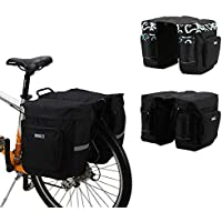 ryask (TM) UK Outdoor Ciclismo Mountain Road bicicletta borsa bici doppio lato posteriore cremagliera Tail Sedile borsa Pannier 30L Nero/Blu, Blue