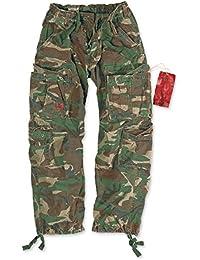 Surplus Homme Airborne Vintage cargo Pantalon woodland L