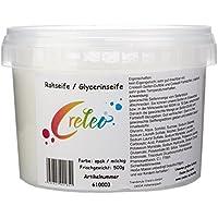 Creleo 610107 Glycerinseife / Rohseife im Eimer für die Mikrowelle oder Wasserbad, 1 kg, 2 x 500 g, opak