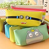 Parteet Soft Silicon School Pencil Pouch Stationery Case Box -for Birthday Party Return Gift for Kids(Pack of 6 Pcs)(Assorted