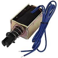 DealMux a14052300ux1091 pasada de regreso Tipo de bastidor abierto electroimán del solenoide, DC 24V, 0.8 Amp, 5.1N Fuerza, 20 mm