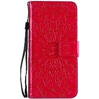 Funda de cuero para Oppo Reno4Pro 5G PU cuero magnético Flip Cover con ranuras para tarjetas Bookstyle Wallet Case para Oppo Reno4Pro 5G - JEKT033155 Rojo