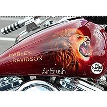 Harley Davidson - Airbrush (Wandkalender 2017 DIN A2 quer): Amerikas Motorradlegende Nr.1 (Geburtstagskalender, 14 Seiten ) (CALVENDO Kunst)