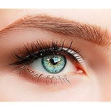 ELFENWALD farbige Kontaktlinsen, 3-Monatslinsen, besonders natürlicher Look, maximaler Tragekomfort, SUPREME Serie, ohne Stärke, 1 Paar weiche Farblinsen ohne Zusatzbehälter (Blau)
