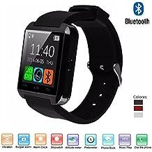 "Navline U8 Smartwatch Reloj Inteligente (Pantalla 1.44"", Bluetooth, USB, Compatible Android, iOS iPhone) - Negro"