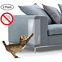 Umiwe Pet Scratch Couch Protector (2PCS), muebles antiarañazos Dog Cat Claw Scratch Guards Pegatina De Vinilo Transparente Con Almohadillas Autoadhesivas Para Tapicería Sofa Door Walls Mattress Car Seat 18.5 x 5.91in (47x15cm)