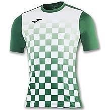 Joma Flag M/C Camiseta Equipamiento, Hombre, Verde/Blanco, 4XS-