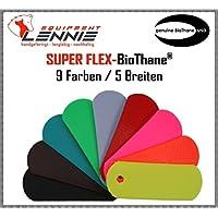 BioThane® Meterware, Beta Super Flex, 9-25 mm breit, ca. 1,5 mm dick, viele Farben, 9mm, Petrol/Teal
