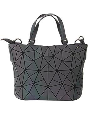 Damen PU Umhängetasche Geometrische Muster Top Handle Bag
