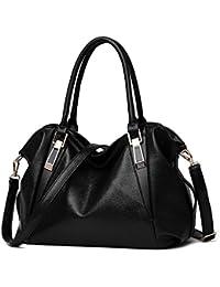 ANNE Damen Schultertasche Elfenbein Gebrochenes Handtasche PU Leder Handtaschen