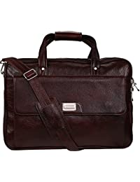 Ayesha Leather Works Pure Brown Leather Laptop Bag,Office Bag