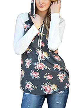 Ranboo Women Patchwork Floral Patchwork Maglia Pullover Pullover Autunno