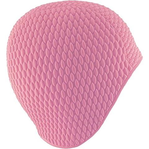 Gorro de baño de burbuja Vintage rosa Pastel