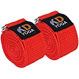 [Sponsored]KD Yoga Fitness Exercise Strap Pack Of 2 (6ft, 8ft, 10ft) For Stretching, Flexibility, Dance, Pilates And Physical Therapy Adjustable Buckle D Ring Buckle Yoga Belt Durable Cotton Exercise Straps