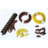 Stecker, Litzen und Verteilerleiste mit Stecker / gelb und braun