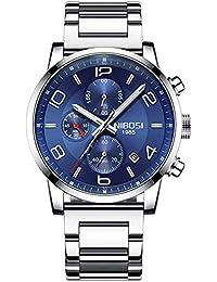 90425088961e Relojes de Vestir para Hombre Reloj de Pulsera Resistente al Agua de Lujo  Hombre Acero Inoxidable