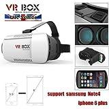 Gafas de vídeo 3D de realidad virtual para móviles Android y Apple, compatible con iPhone 6 Plus, iPhone 6, Samsung Galaxy S3, S4, Note 3, Not 4, LG, instrucciones fáciles de configuración, producto de calidad