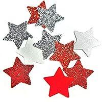 Silber Glitter und Rot Glitter Stern Konfetti für Hochzeits Geburtstagsfeier Dekoration
