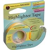 Lee producten 1/2 x 720 inch tekstmarker plakband, fluorescerend geel
