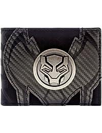 Cartera de Marvel Black Panther juego insignia de plata Negro