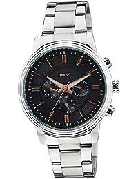 Pulse Analog Black Dial Men's Watch - PL0807