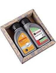Lustapotheke® Geschenkset für KfZ Mechaniker oder Hobby Schrauber - 2x Duschgel für Männer im Motoröl-Design