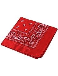 Multifunktions Kopfschal Bandana Reiten / Radfahren Kopf Wrap Neck Schals Outdoor Taschentuch (Red)