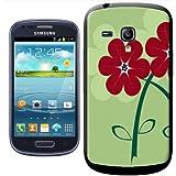 Fancy A Snuggle Coque arrière rigide à clipser pour Samsung Galaxy S3 Mini i8190 Motif fleurs Rouge
