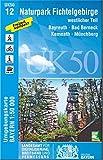 UK50-12 Naturpark Fichtelgebirge, westlicher Teil: Bayreuth, Bad Berneck, Kemnath, Münchberg, Kirchenlamitz, Weißenstadt, Wunsiedel, Schneeberg, ... Karte Freizeitkarte Wanderkarte)