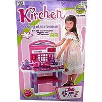 Big Kitchen Cook Set Toy Kids Play Pretend Kitchen Set