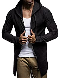 LEIF NELSON Herren Pullover Kapuzenpullover Hoodie Sweatjacke Jacke Basic Langarm oversize Shirt Sweater LN6301