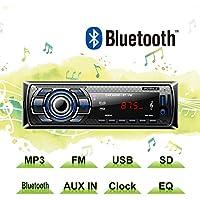 Auto Radio MP3 von POMILE, Single Din Autoradio (Bluetooth, USB, SD, AUX Anschluss) Auto MP3 Player Apple iPod / iPhone Control, Freisprechfunktion und integriertes Mikrofon