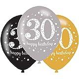Amscan 9900738 21-Inch Celebration 30th Latex Balloons
