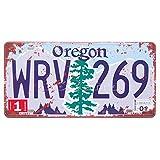 Oregon WRV-269, nosotros Auto matrícula, muestra de pared decorativos
