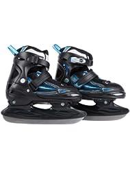 Ultrasport Patins à glace pour enfants réglables sur plusieurs pointures, avec protection de la lame et sac de transport - Certification TÜV/GS