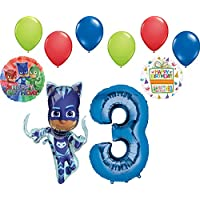 Mayflower PJ Masks Catboy 3rd Birthday Party Supplies Balloon Bouquet Decorations