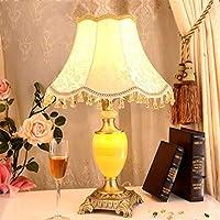 Preisvergleich für ZYCkeji Zart Europäische Luxus Reinem Kupfer Jade Tischlampe Warm Wohnzimmer Schlafzimmer Nachttisch Moderne Einfache...
