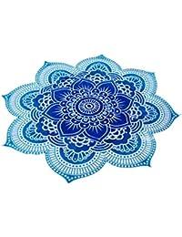 Bohème Mandala Ronde Tapisserie de Plage Hippie LUTOS Tapis de Yoga