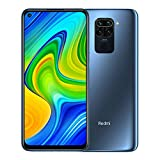 "Redmi Note 9 smartphone- RAM 4GB ROM 128GB 6.53 ""FHD + DotDisplay 48 MP Hot Camera met vier camera's 3.5mm headphone jack 5020 mAh NFC Grijs"