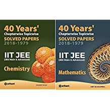 40 Years' Chapterwise Topicwise Solved Papers (2018-1979) IIT JEE Chemistry, Mathematics Arihant Latest Edition