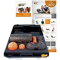 Preisvergleich für Blackroll Orange Die Faszienrolle, SMR-Set mit 30 cm, Standard, inkl. Koffer, Übungs-Poster und -Booklet