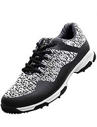 FUBULE Zapatos de Golf Zapatos sin Puntas Tela Tejida Lateral Antideslizante Impermeable Resistente al Desgaste Ligero Multifuncional al Aire Libre